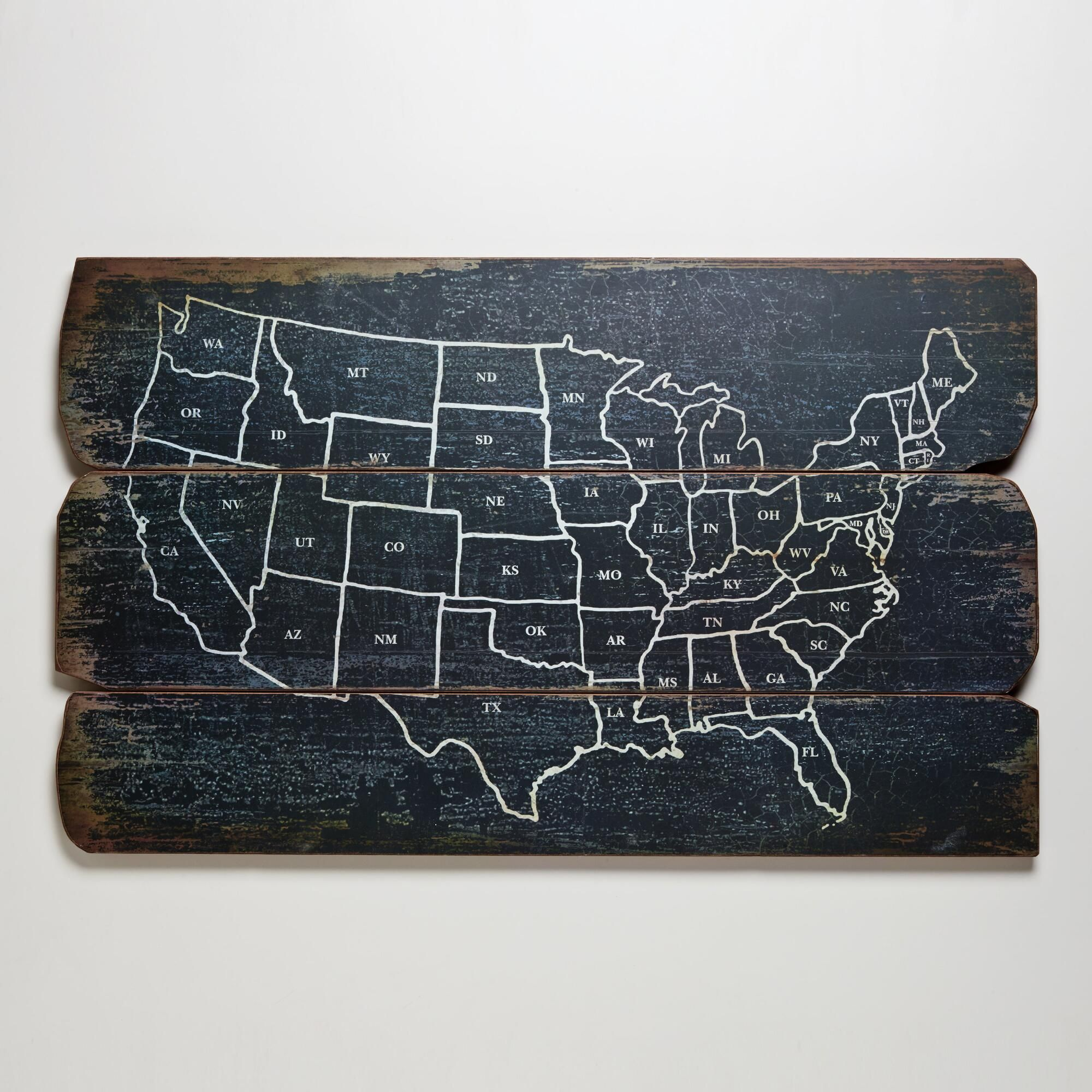 Our Wood USA Wall Map is drawn in white that contrasts with the ...