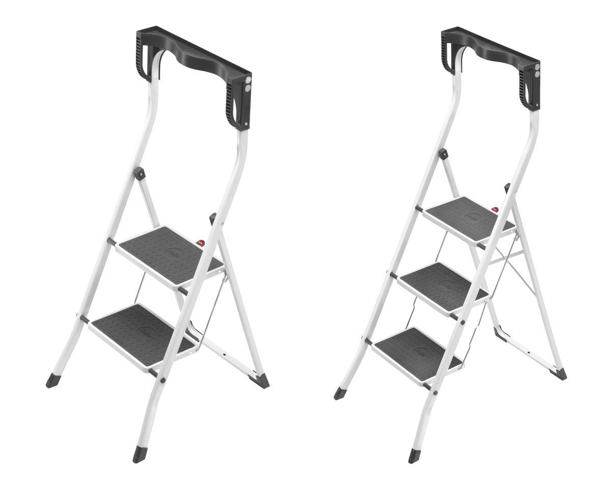 Hailo Safety Plus 2 3 Stufen Stahl Klapptritt Tritt Haushalt Klapp Leiter Neu Stufen Haushalt Stahl