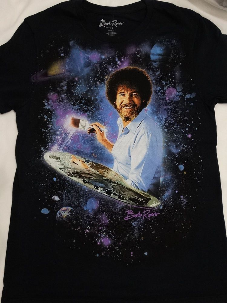 7a69fda75 Details about Bob Ross Artist Galaxy The Joy Of Painting T-Shirt ...