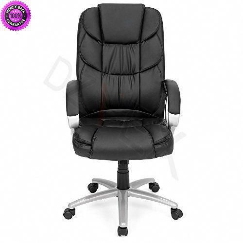 DzVeX_Ergonomic PU Leather High Back Office Chair, Black And - Cheap Black Furniture