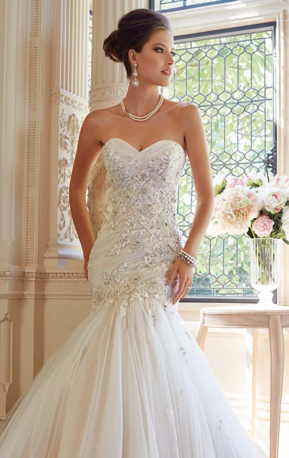 Embellished Strapless Gown by Sophia Tolli   Wedding Dresses ...