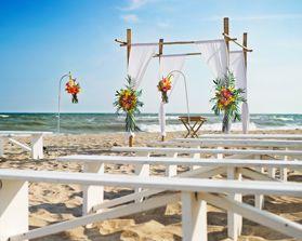 North Carolina Beach Wedding Reception