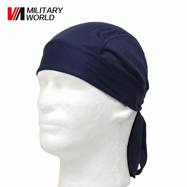 Outdoor Quick Dry Sweat Beanie Cap Cycling Pirate Hat Sports Headwear Helmet Hat