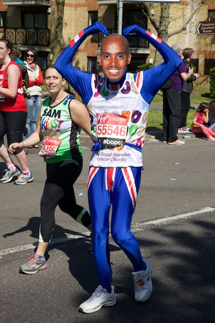 The London Marathon went by Rotherhithe today , maybe you recognise this runner?