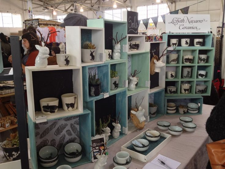Unique Craft Show Displays | lizbeth navarro ceramics – Craft fairdisplay ideas – dear handmade ...
