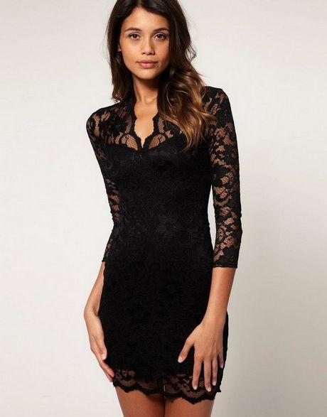 06f33f51f Vestidos negros con encajes ¡11 Diseños Espectaculares!