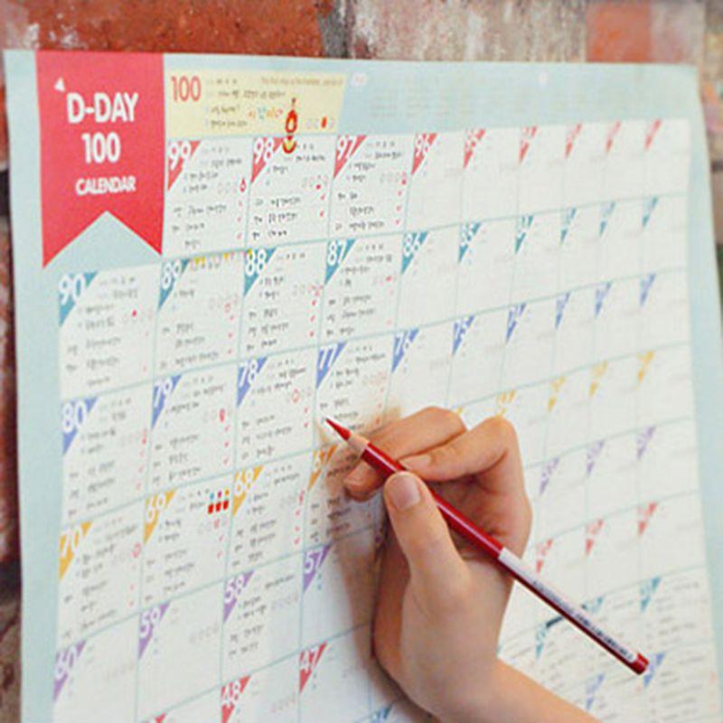Superdeal 100 Day Countdown Kalender Lernen Zeitplan Periodische ...