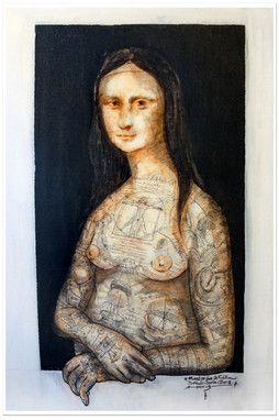 MONALIZA 53x79cm.acrylic+marker pen on canvas.didaccheca.oct13--- 550€