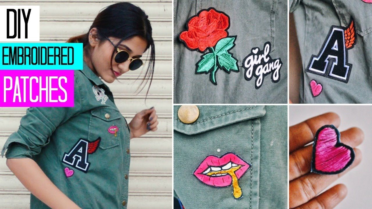 how to make patches with embroidery