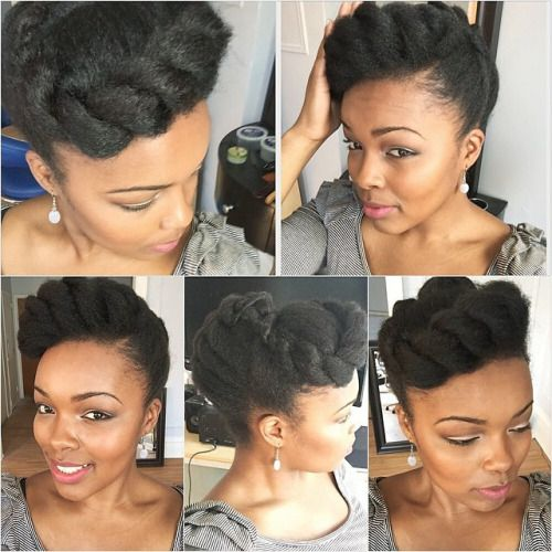 Hair2mesmerize Coiffure Rapide Coiffure Cheveux Crepus Coiffures Nappy