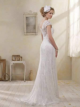 Back Of 8501 Wedding Dress