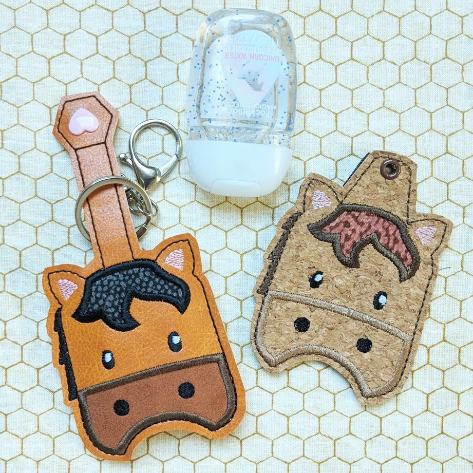 Horse Hand Sanitizer Holder Key Fob Snap Tab October 2018