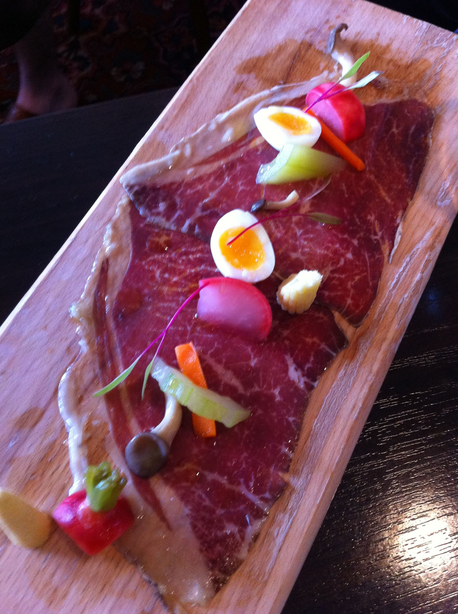 Moondarra Wagyu Bresaola with Pickled Vegetables (Europa Cellars Deli)