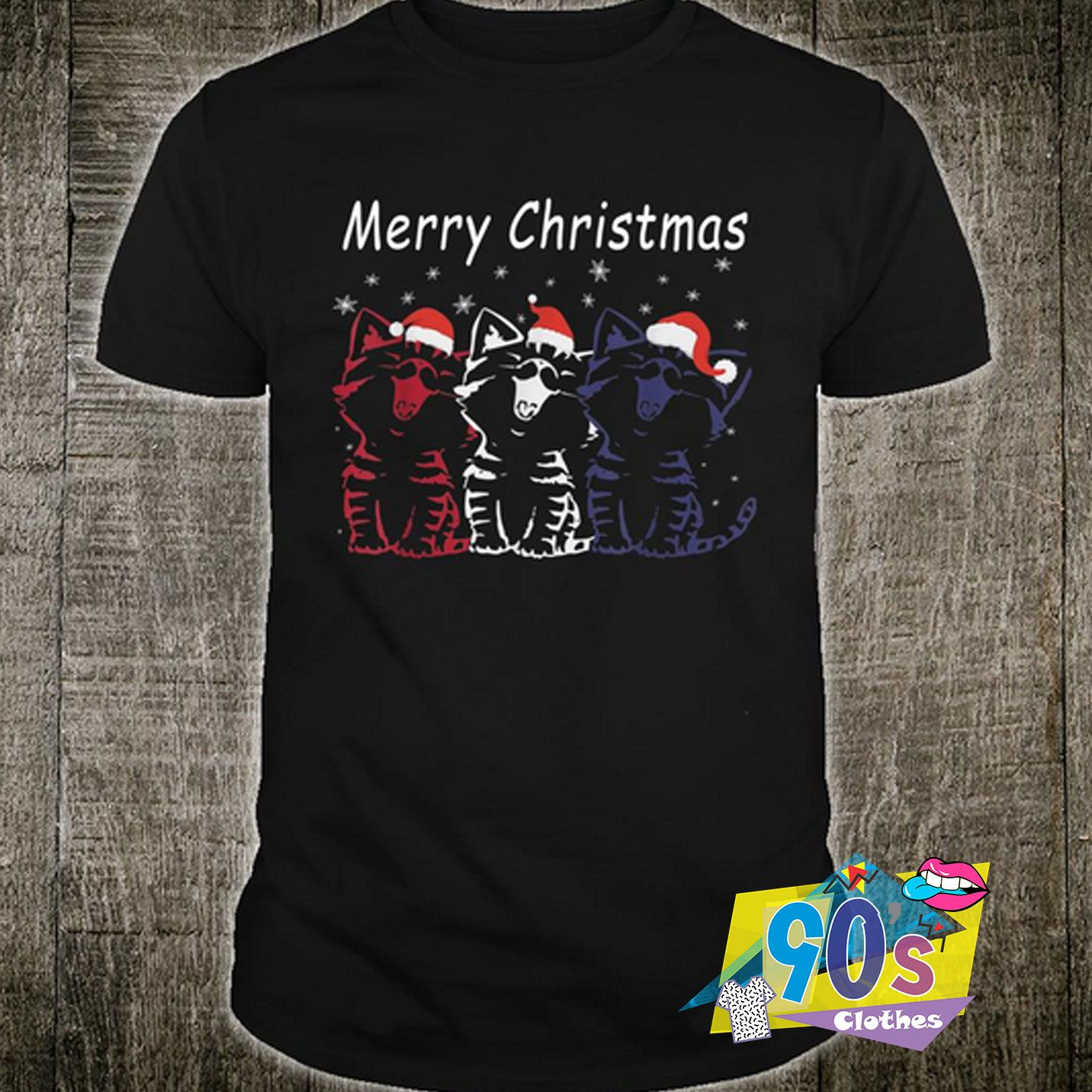 Funny Santa Cat Merry Christmas T shirt #adventlustigerster