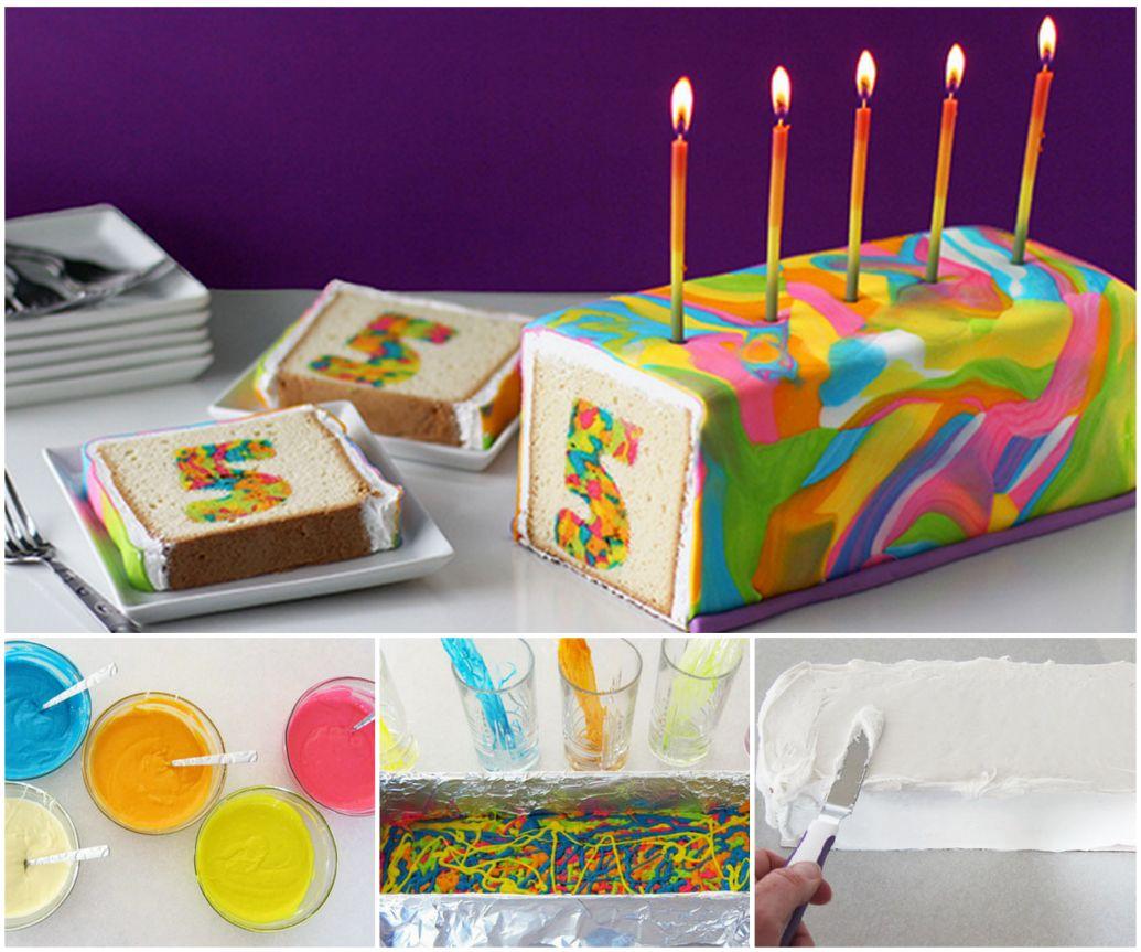 Choc Banana PB Bites Rainbows Cake and Birthdays
