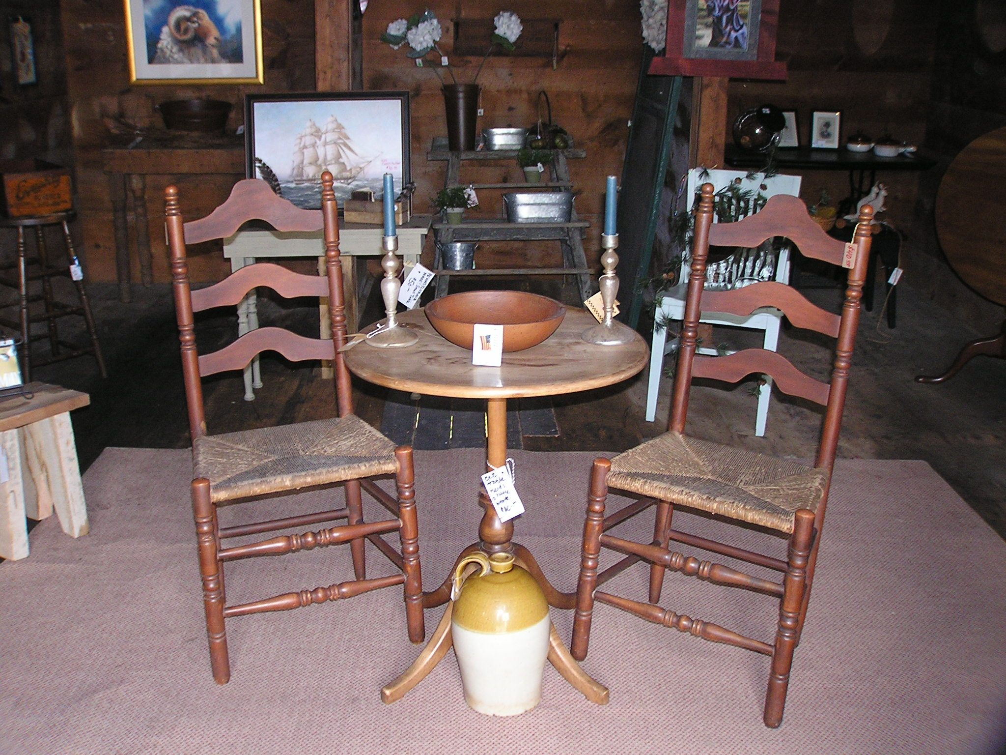Ladder Back Chairs Are So Timeless.... These Colonial Treasures Can Be Used