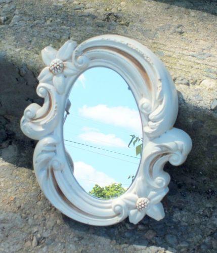 Vintage Chalk Ware White Mirror 1967 Miller Studio 1084 | eBay