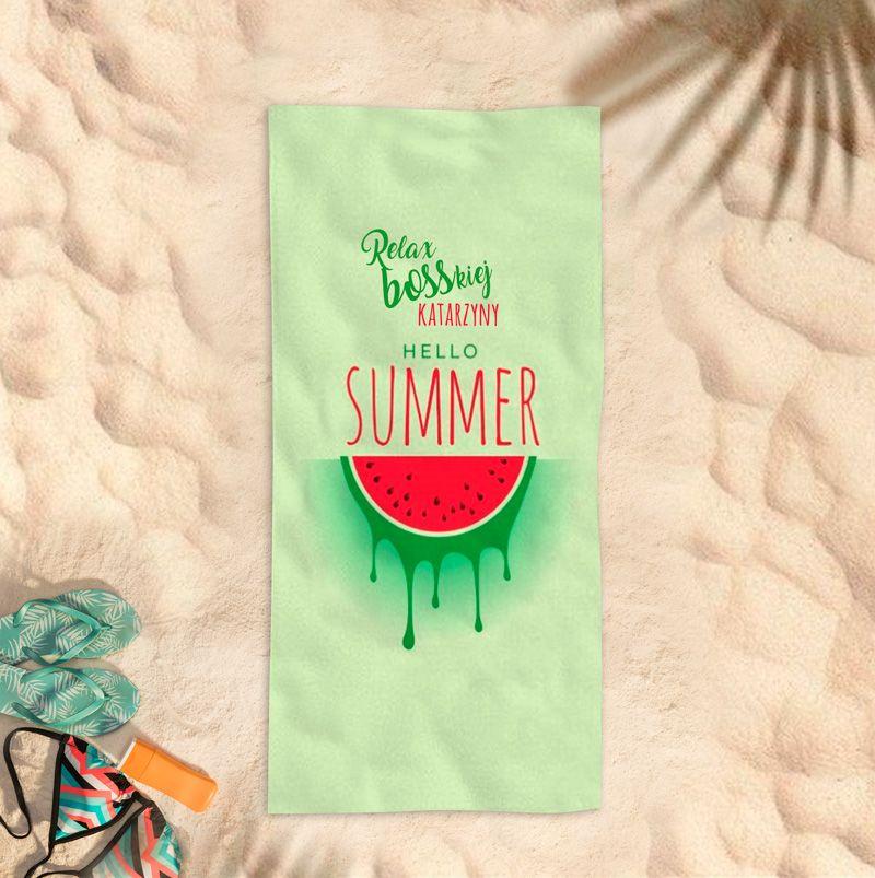 Recznik Plazowy Arbuz Relax Personalizowany Hello Summer Enamel Pins Summer