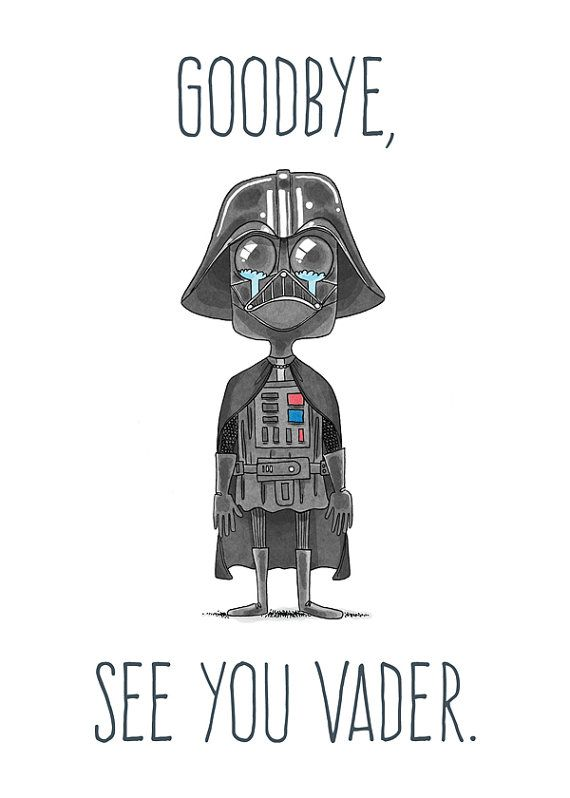 See You Vader – Farewell Card | goodbye | Goodbye cards