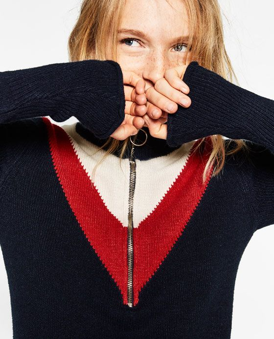 23e0bee9 ZIPPED HIGH NECK SWEATER - Available in more colours   AUTUMN ...