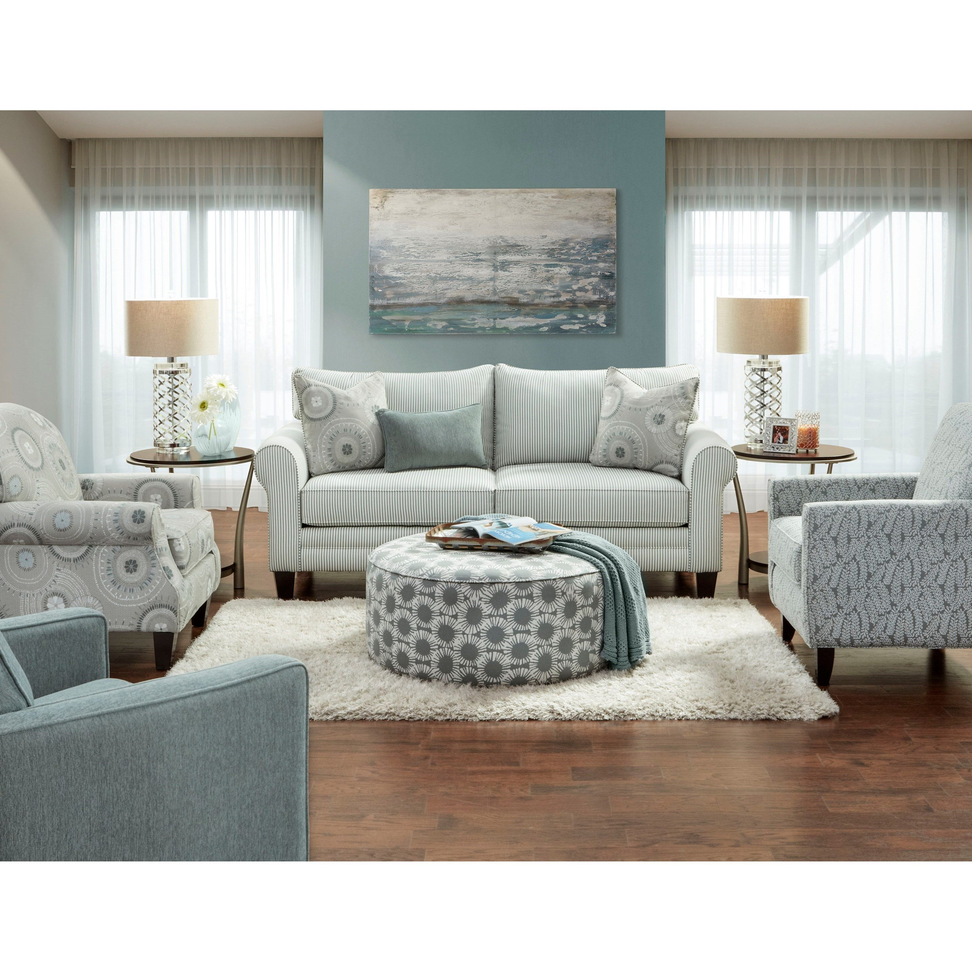 1180 Casual Contemporary Sleeper Sofa In Performance Fabric By Vfm