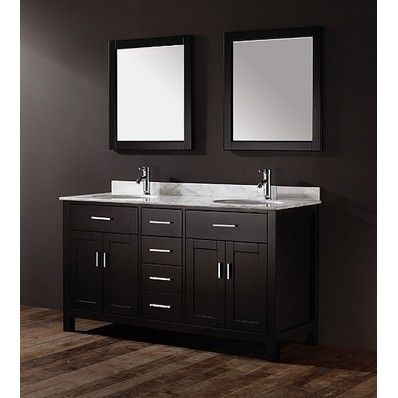 Ikou Inc Kaleeze 63 Modern Double Sink Bathroom Vanity Ab Kz63 At