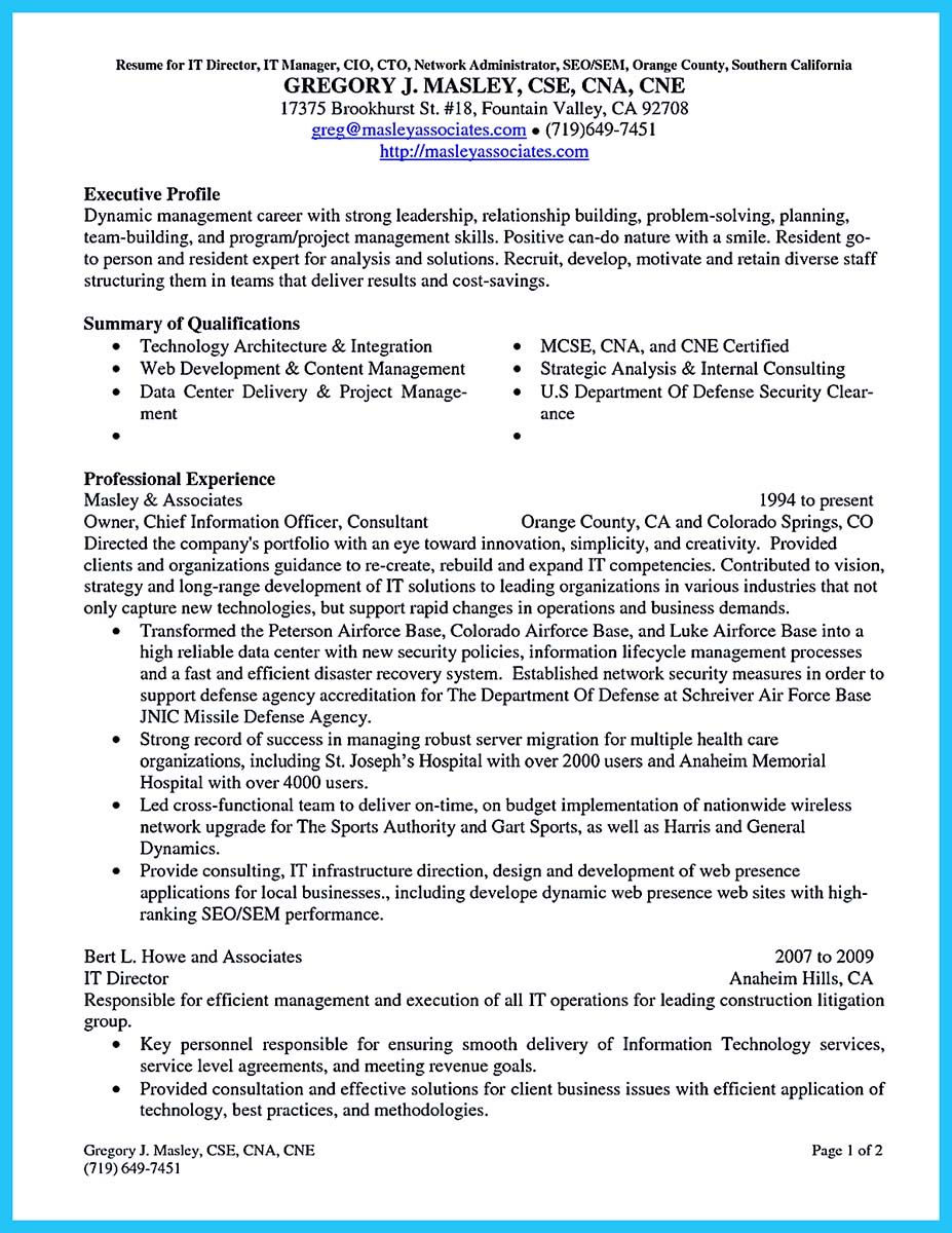 Cool Outstanding Cto Resume For Professionals Check More At Http