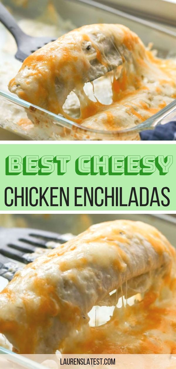 Amazing Chicken Enchiladas #easyrecipes