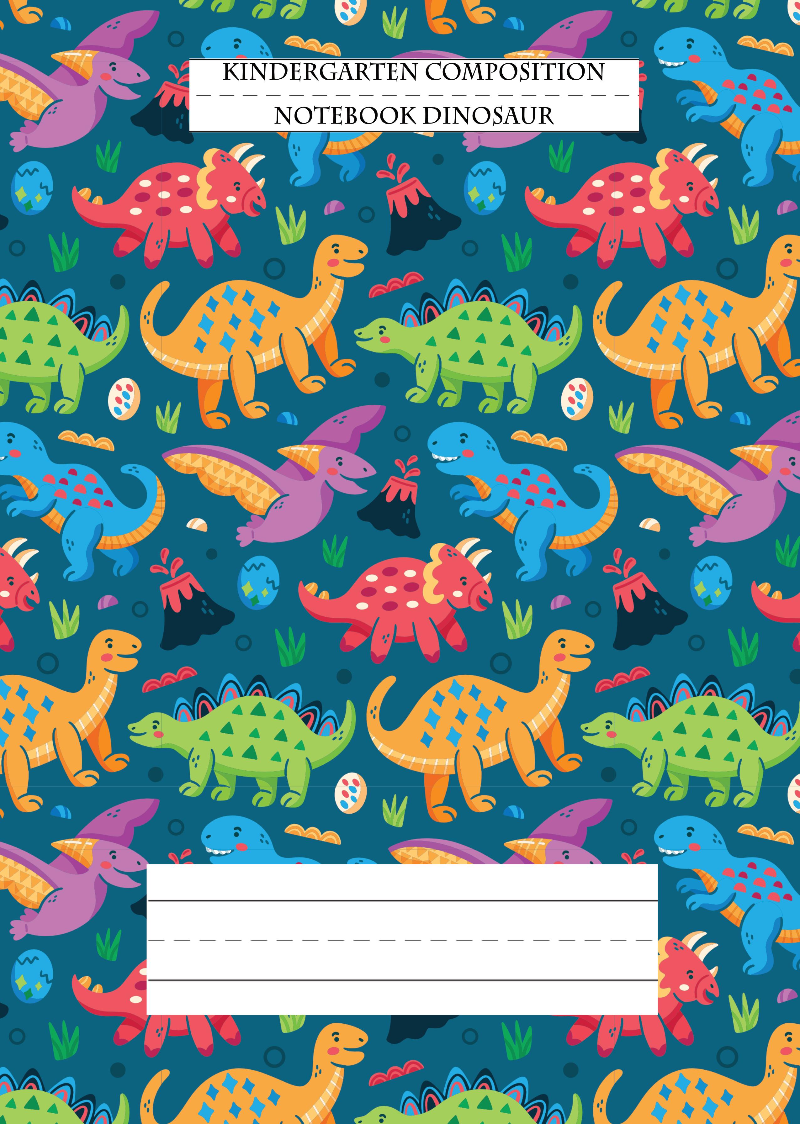 Kindergarten Composition Notebook Dinosaur