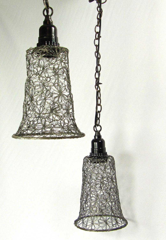 Pendant Lights Lamps Pewter Wire Mesh Design | Mesh / Net ...