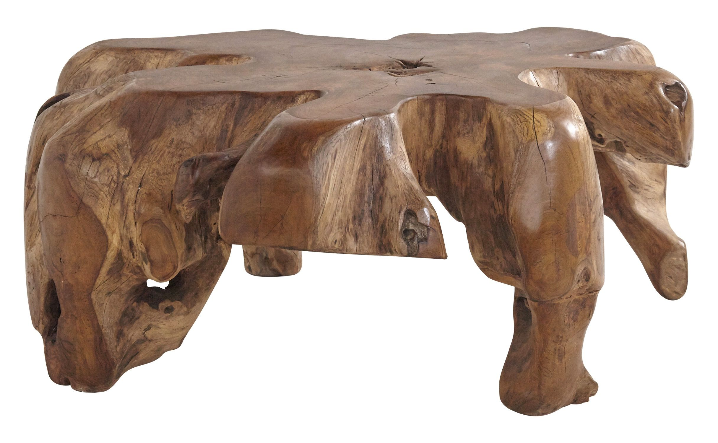 Dering Hall | Root table, Teak, Teak coffee table