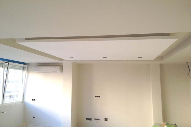 Trabajo de techo pladur pladur pydes pinterest for Laminas para techos interiores