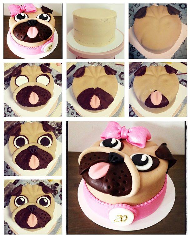 Wonderful Diy Cute Pug Cake Dog Cakes Pug Cake Cake