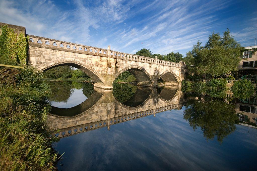 Toll Bridge World Heritage City Homes England Bridge