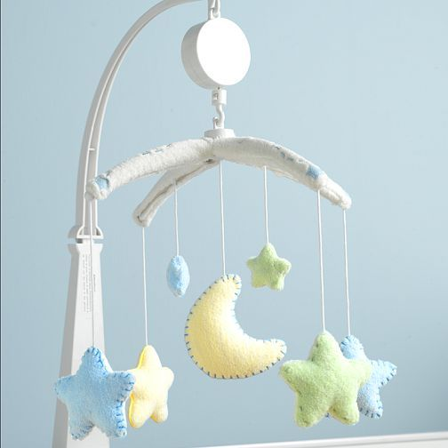 Baby Musical Mobile Star Moon Babies Mobiles Nursery