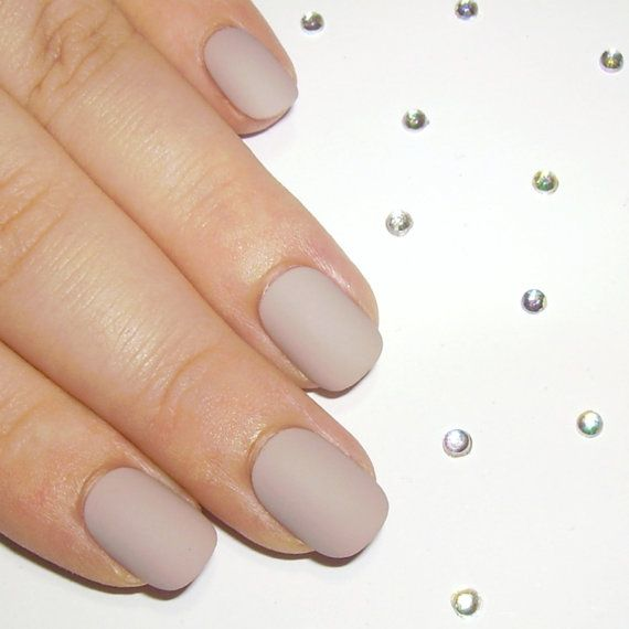 Ombre Fake Nails - Matte Nude False Nails - Coffin Nails Crystal ...