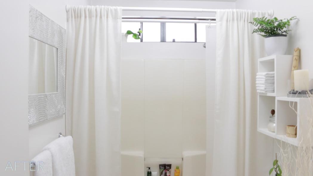 Small Bathroom Budget Makeover | Small bathroom makeover ...
