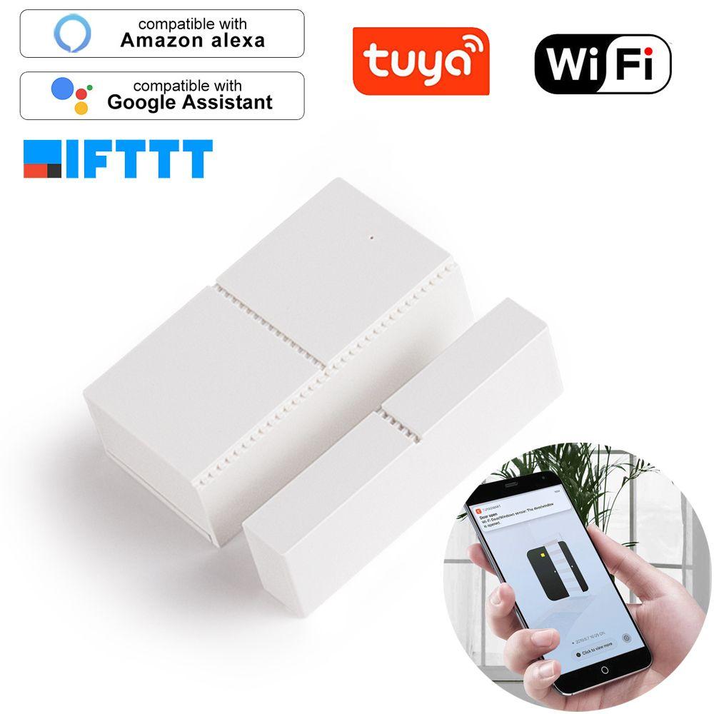 Tuya Wifi Door Sensor App Control Security Alarm Magnetic Switch Wireless Window Doorsensor Smart Home System Compatible Discount 40 Tuya Wifi Door