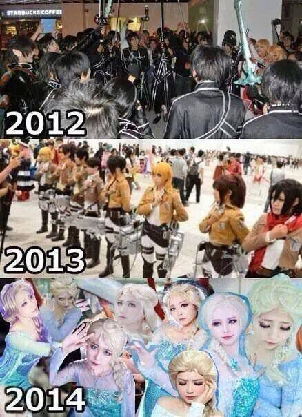 Biggest cosplay trends over the years. | Cosplays, Cosplay, Memes ...