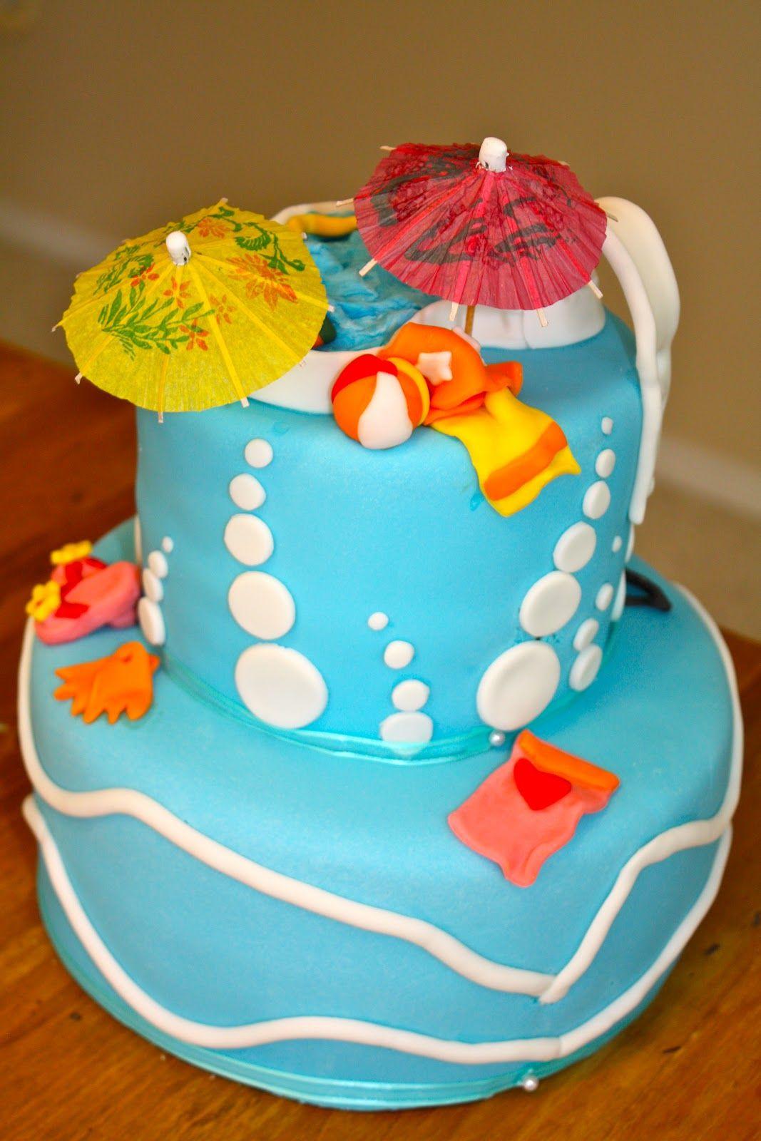 Pool Party Birthday Cake Ideas Party Birthdays Boy Cakes