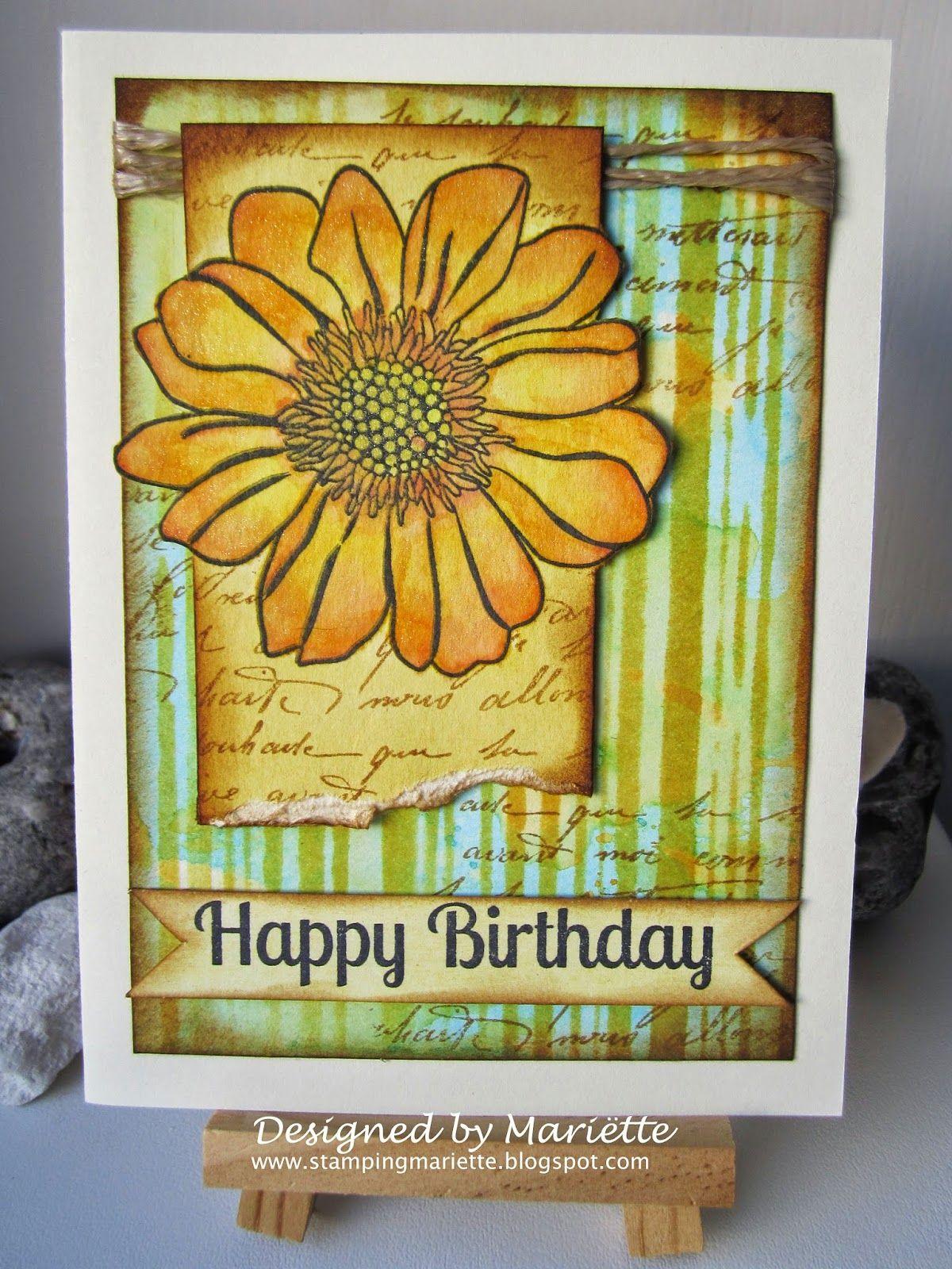 Happy Birthday card by Mariëtte