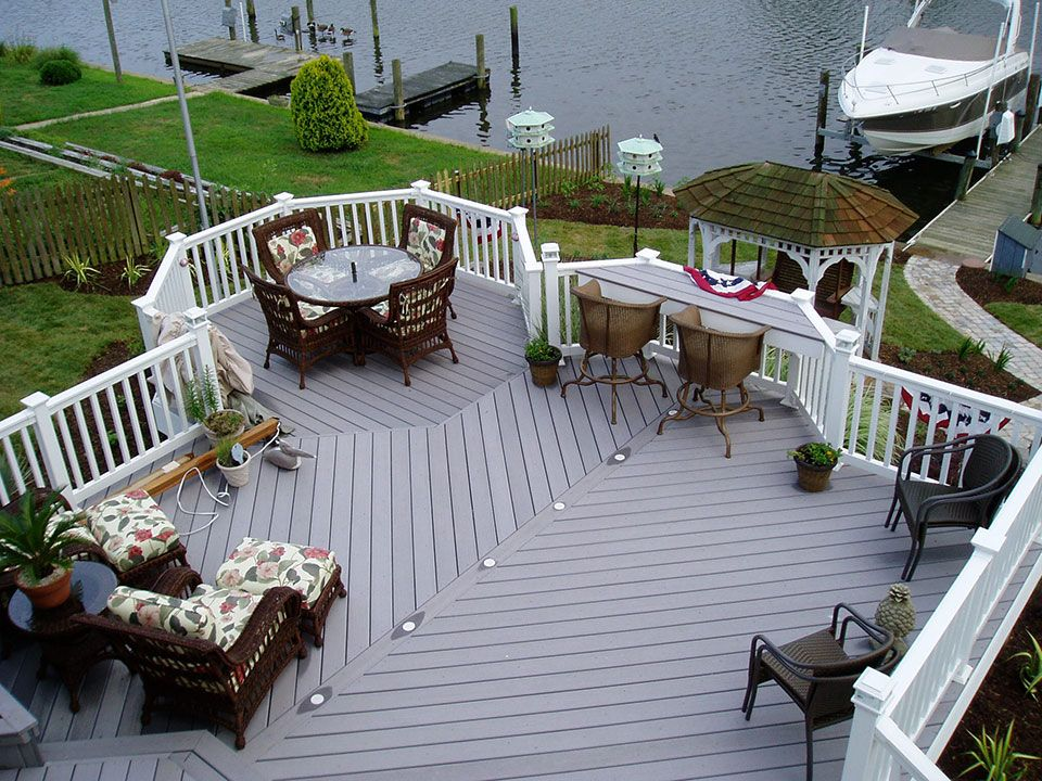 Dont care for totally white railings patio deck
