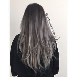 Grey Balayage Image 3980588 By Tschissl On Favim