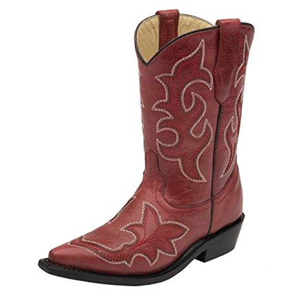 G1193 CORRAL Girls Scroll Embroidery Boot Square Toe