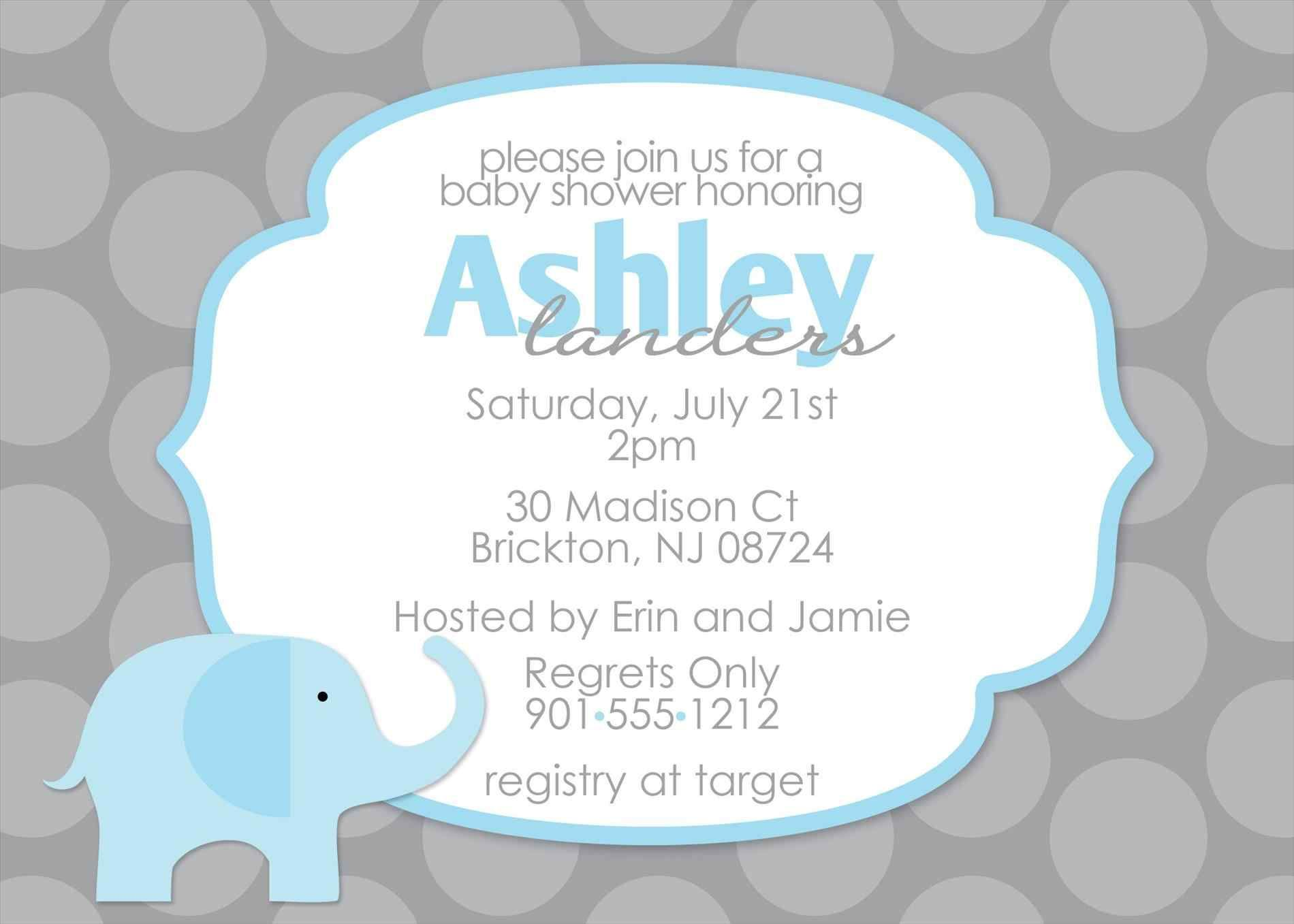 Baby Shower Powerpoint Templates Baby Shower Invitations Baby Shower Invitations For Boys Elephant Baby Shower Invitations