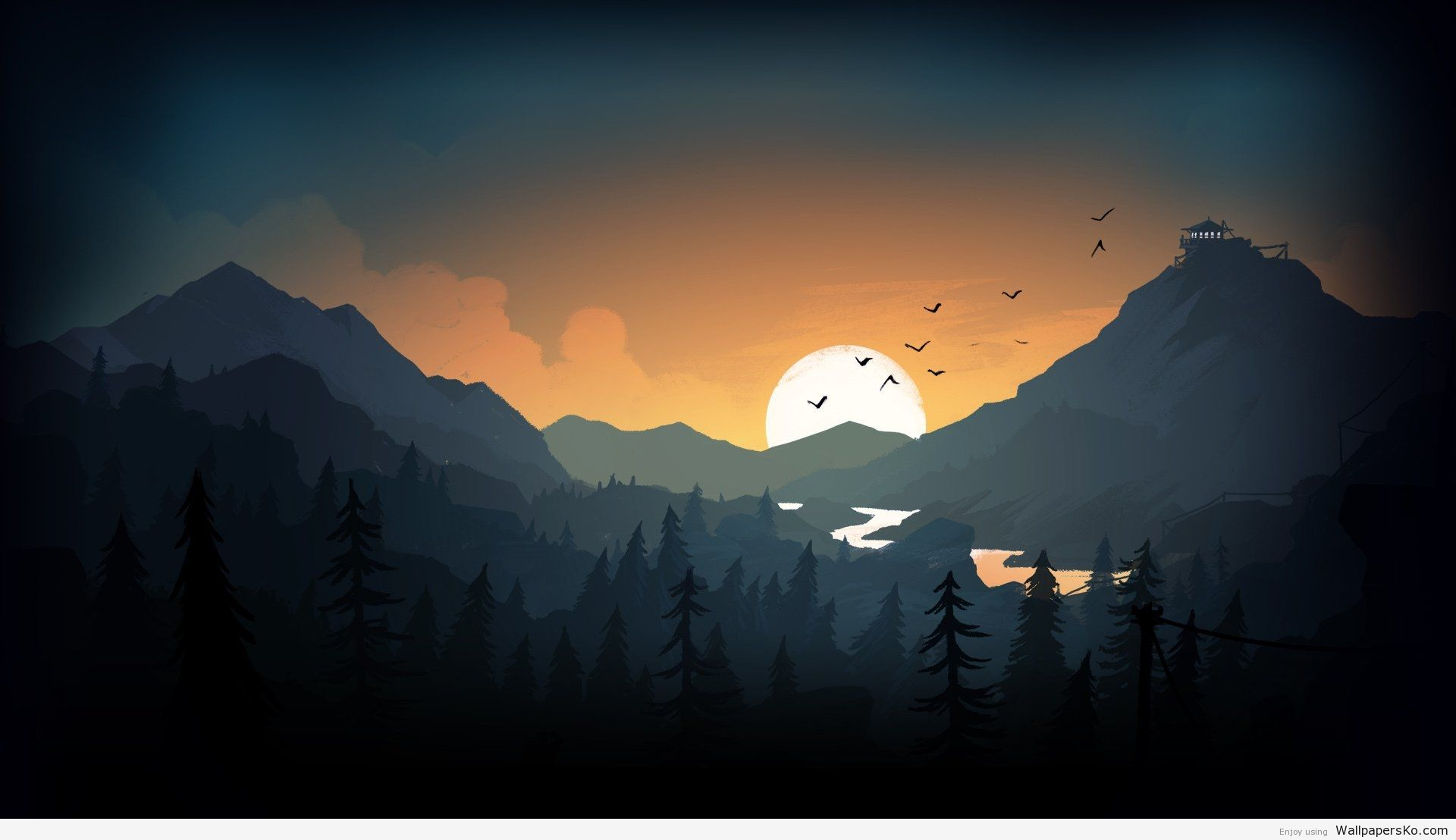 Firewatch Wallpaper Http Wallpapersko Com Firewatch Wallpaper