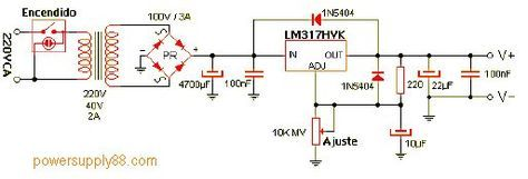 1 2v 57v Regulated Power Supply Circuit Power Supply Circuit Electrical Engineering Projects Power Supply