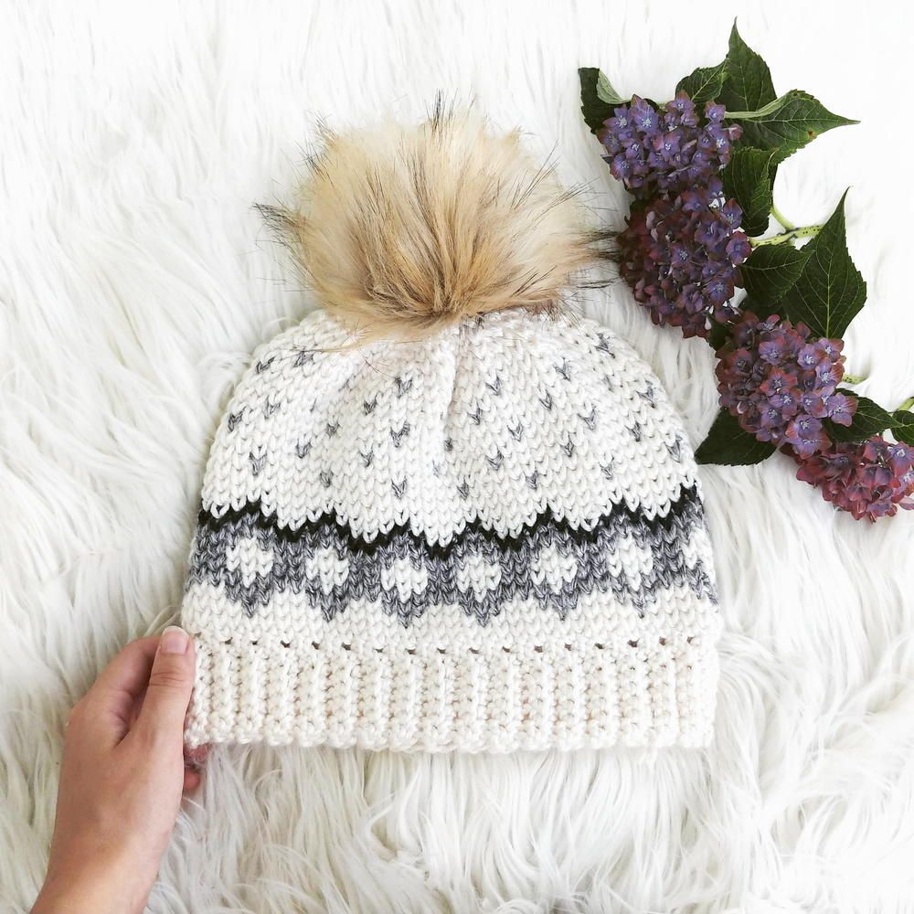 This is an intermediate level crochet pattern for a fitted hat with ...