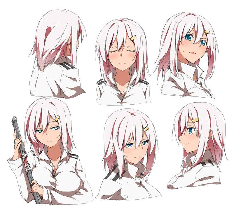 Shinsono Shiroko Anime Character Design Character Design Manga Hair