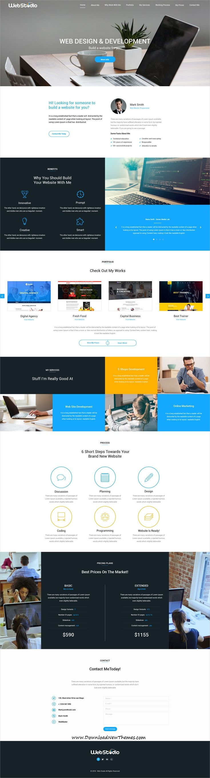 Thecapital Is Clean And Modern Design Multipurpose Psd Template For Creative Web Studio Website With 14 Niche Homep Web Layout Design Web Design Web Layout